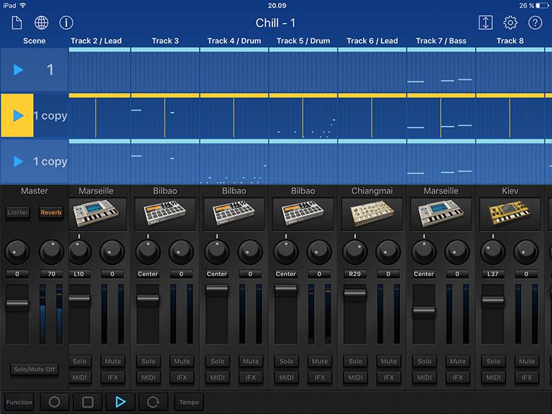 Korg Gadget inteface screenshot 1
